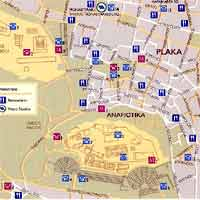 Akropolis Plaka Greece Map Street Maps Athens Greece map of Athens